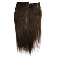 """16 החדש """"-24"""" חתיכה אחת הארכת חוט הארכת שיער הילה 100% בלתי נראה"""
