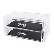 Acrylic Transparent Double Layer Cosmetics Storage Drawer Cosmetic Organizer