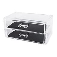 אחסון איפור Cosmetic Box / אחסון איפור פלסטיק / אקרילי אחיד 18.6 x 11.5 x 9.0 Bisque