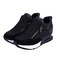 Sko-PU-Platå-Komfort-Trendy sneakers-Friluft / Sport / Arbeide & Plikt / Fritid-Svart / Rød