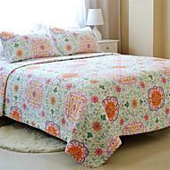 "3PC Quilt Sets Full Cotton Euro Floral Pattern 90""W*98""L"