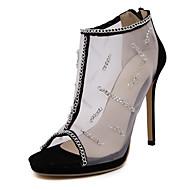 Women's Shoes Silk Stiletto Heel Heels /Basic Pump / Comfort / Novelty / Pointed Toe Sandals