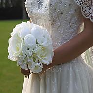 """Bouquets de Noiva Redondo Peônias Buquês Casamento / Festa / noite Cetim 10.24""""(Aprox.26cm)"""