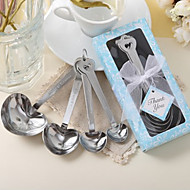 Recipient Gifts - 1Piece/Set , Heart Shaped Measuring Spoons in Blue Box Wedding Favors