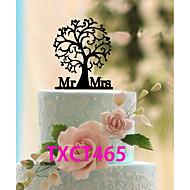 Tortenfiguren & Dekoration Nicht-personalisierte Monogramm Acryl Hochzeit Schwarz Klassisches Thema 1 OPP