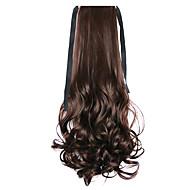onda de água marrom longo estilo peruca de cabelo rabo de cavalo rabo de cavalo atadura encaracolado