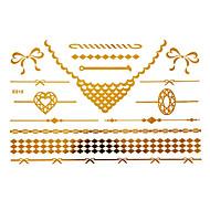 Stencils de Tatuagem TemporáriaTatuagem AdesivaFeminino / Adulto- dePapel-Dourada-15*12*0.31