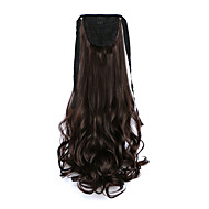 Curly Dark Brown Synthetic Bandage Type Pear Hair Wig Ponytail