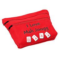 royal st 20 mm miniatuur kristal mahjong mahjong met een doek zak voor het reizen / ivoorkleur doek zakken