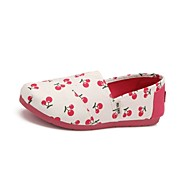 Women's Comfort Canvas Casual Flat Heel Green / Fuchsia