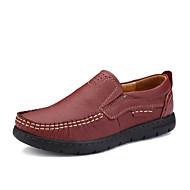 Damen-Sneaker-Lässig-Leder-Flacher Absatz-Komfort-Schwarz Rot