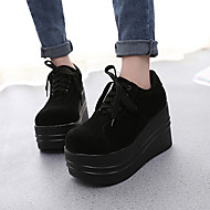 Women's Shoes Wedge Heel Round Toe Fashion Sneakers Casual Black