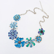Women's Statement Necklaces Flower Sunflower Fashion Orange Blue Jewelry Party Daily Casual 1pc