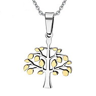 Women's Fashion Wishing Tree Style Steel Pendant for Necklace
