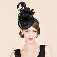 Women's Feather / Flax Headpiece-Wedding / Special Occasion / Casual Fascinators / Hats 1 Piece