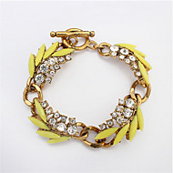 European And American Fashion Leaves Diamond Bracelet