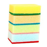 10pcs cor aleatória pano de esponja da limpeza