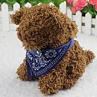 Cat / Dog Collar Bandana Fashion Flower Red / Black / Blue Fabric