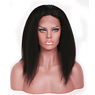Kinky Straight Human Hair Glueless Full Lace Wig With Baby Hair Virgin Brazilian Natural Afro Hair Wig