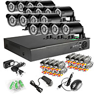 16CH 960H Network DVR  16PCS 1000TVL IR Outdoor CCTV Security Cameras System
