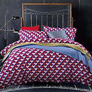 Luxury Egyptian Cotton 4PC Duvet Set Heartl Pattern Queen King Size