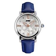 SKMEI® Women's Luxury Leather Brand Diamond Water Resistant/Water Proof Quartz Wristwatch Fashion Watches