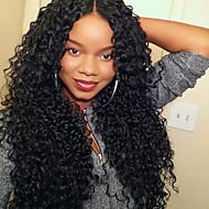 capelli umani 7a glueless pieno parrucche brasiliane AFO ricci parrucche del merletto anteriori per le donne di colore 130% parrucche