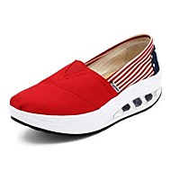 Women's Shoes Canvas Platform Comfort/Ballerina Loafers Office & Career / Athletic /Dress/Casual Blue/Red/Navy