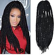 12-24 Zoll häkeln Zopf havanna mambo afro Twist Haarverlängerung natürlich schwarz mit Häkelarbeithaken