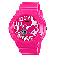 Sweet And Creative Fashion Waterproof Student Activity Double Time Girls Fashion Electronic Watches
