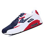Lenkkarit-Tasapohja-Naisten kengät-Tyll-Sininen / Punainen / Valkoinen-Urheilu-Comfort