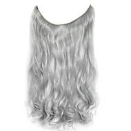 peruca de prata 45 centímetros fio de alta temperatura sintético cor prata pedaço de cabelo encaracolado