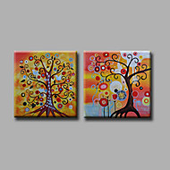 """estirada (listo para colgar) pintura al óleo pintado a mano 48 """"x24"""" de la pared del arte moderno de la lona abstracta de árboles de"""