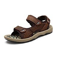 Men's Shoes Outdoor / Office & Career / Athletic / Dress / Casual Nappa Leather Sandals Black / Brown / Taupe