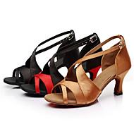 Obyčejné-Dámské-Taneční boty-Latina-Satén / Koženka-Na zakázku-Černá / Hnědá / Červená / Bílá / Zlatá / Vícebarevná