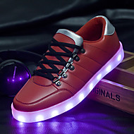 Women's Shoes Leatherette Flat Heel Ballerina / Novelty Fashion SneakersWedding / Outdoor / LED hoes