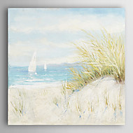Hand Painted Oil Painting Landscape Beach Scene with Stretched Frame 7 Wall Arts®