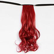 hullám piros szintetikus kötszer típusát haj paróka lófarok (színes 130m)