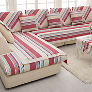 Cotton/linen old coarse Slip-resistant Slipcover Fashion Four Seasons Fabric Knitted Sofa Cushion Red/Gray Color