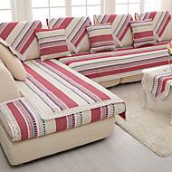 coton / lin vieux grossiers antidérapante mode slipcover quatre saisons tissu tricoté coussin de canapé couleur rouge / gris