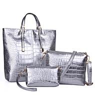 női táska állítja pu minden évszakban hivatalos alkalmi rendezvény / party esküvő iroda&karrier vásárló cipzár ezüst fekete arany