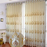 Two Panels European Curve Polyester Sheer Curtains Shades