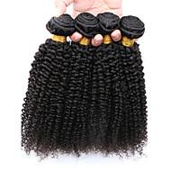 Cabelo Humano Ondulado Cabelo Brasileiro Kinky Curly 12 meses 4 Peças tece cabelo