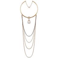 Damen Halskette Alltag Künstliche Perle Legierung