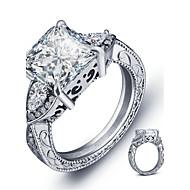 Ringe Square Shape Mode Bryllup / Party / Afslappet Smykker Sølv Dame Båndringe 1pc,6 / 7 / 8 Sølv