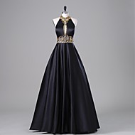 TS Couture® Formal Evening Dress A-line Halter Floor-length Satin with Beading