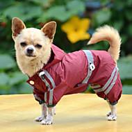 Hunde Regenmantel Rot / Gelb / Grün Hundekleidung Sommer / Frühling/Herbst einfarbig Wasserdicht