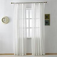 zwei Panele Rustikal / Modern / Neoklassisch Solid Multi-color Schlafzimmer Leinen-Polyestergewebe Flächenvorhänge Vorhänge