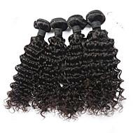 "4pcs/Lot 8""-30"" Malaysian Virgin Hair Color #1B Natural Wave Human Hair Extensions  Bundles"