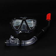 Schnorchel Sets Schnorchel Schnorchelset Tauchmasken Tauchen und Schnorcheln Silikon PVC Schwarz Blau